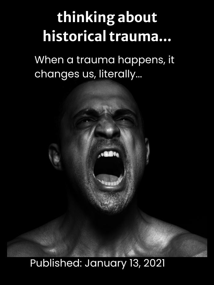 thinking about historical trauma...