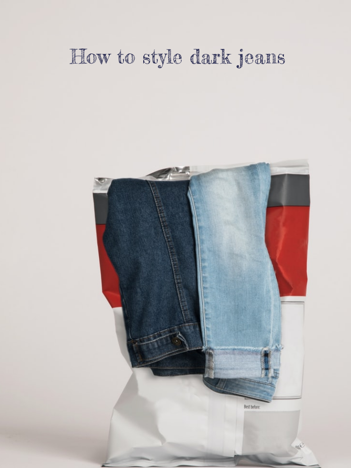 How to style dark jeans