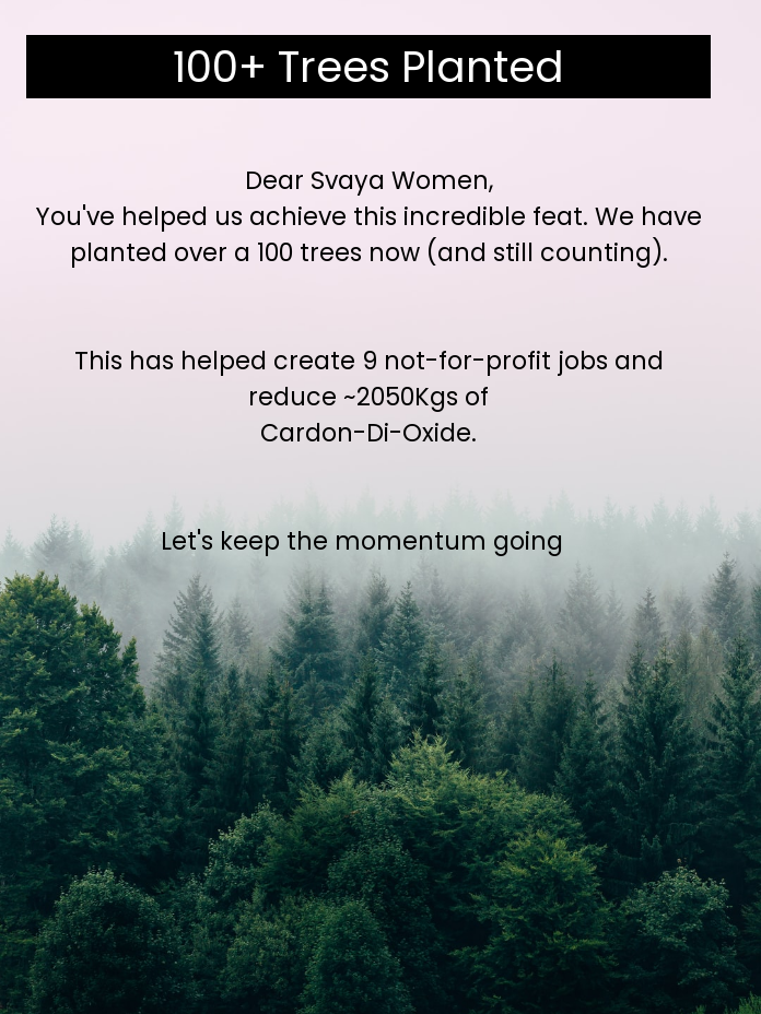 100+ Trees Planted