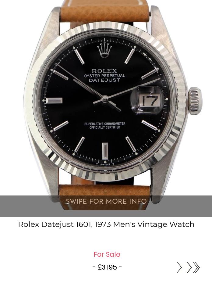 Rolex Datejust 1601, 1973 Men's Vintage Watch