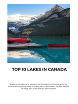 Top 10 lakes in Canada